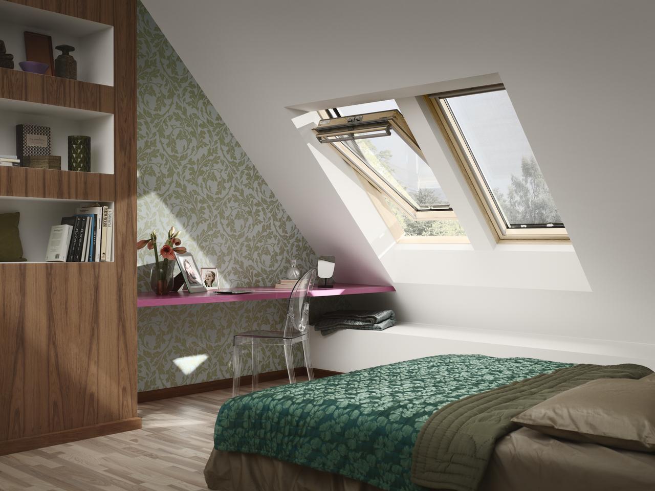 fereastr de mansard velux ggl 3060 cu operare de sus. Black Bedroom Furniture Sets. Home Design Ideas